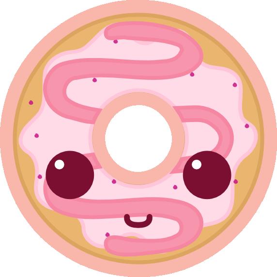 DD Doughnut (Kawaii) by amis0129 PlusPng.com  - Kawaii Donut PNG