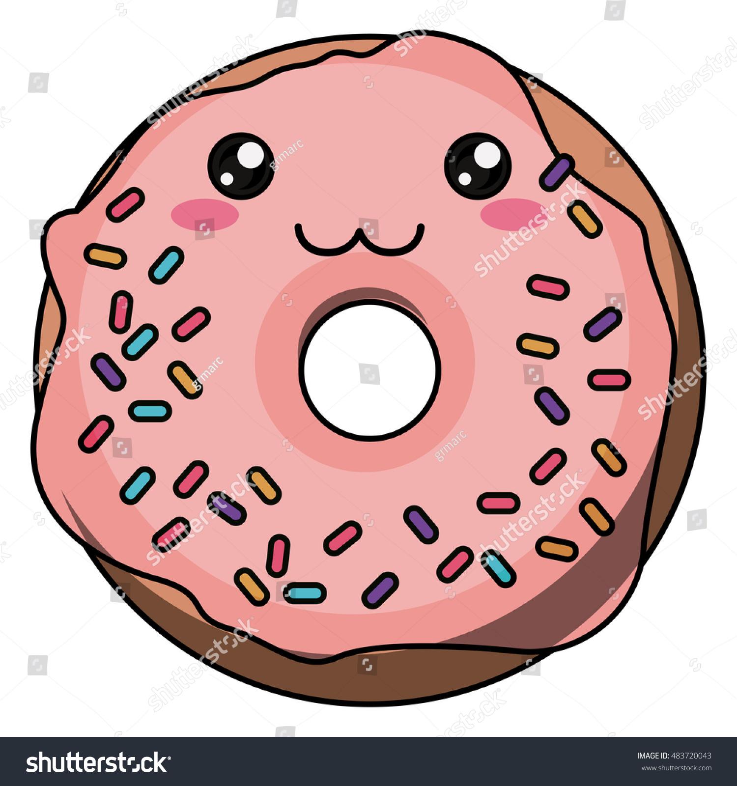 Kawaii Donut PNG - 48037