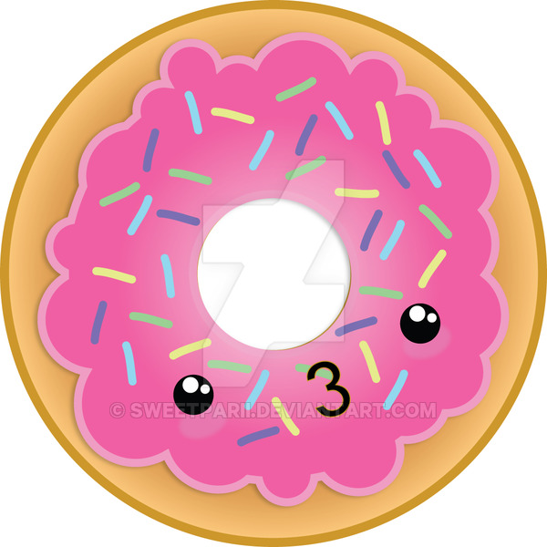 KAWAII _ DONUT by sweetparii PlusPng.com  - Kawaii Donut PNG