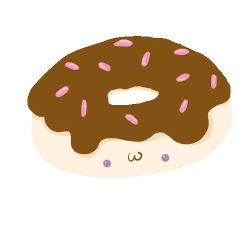 Kawaii Donut Vector by AlyshaChristine PlusPng.com  - Kawaii Donut PNG