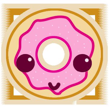 Kawaii Doughnut by TheAngelTears PlusPng.com  - Kawaii Donut PNG