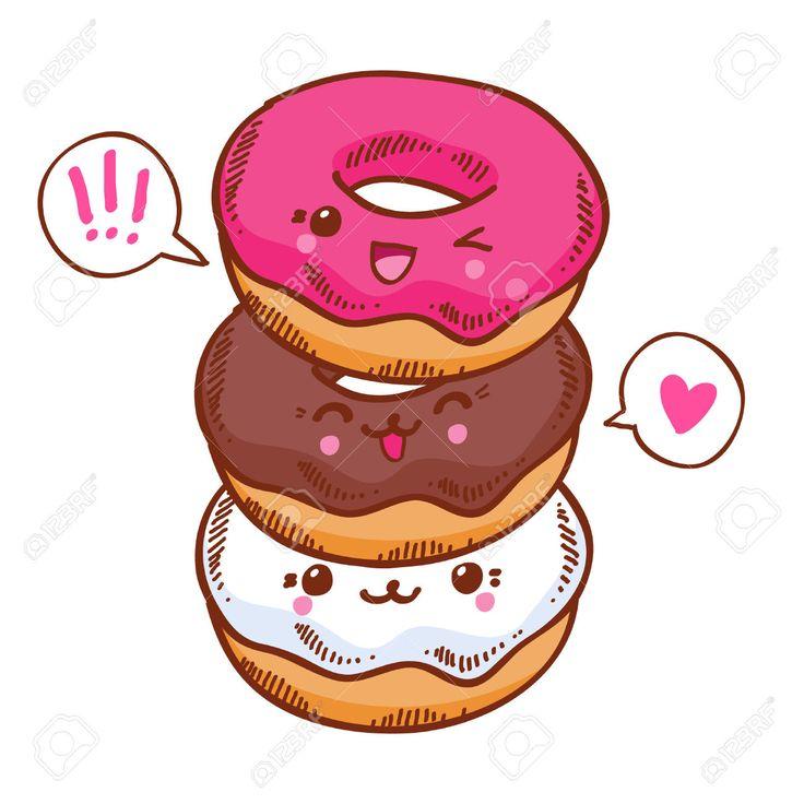 Kawaii Donut PNG - 48042