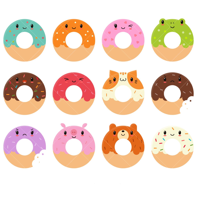 Kawaii Donut PNG - 48034