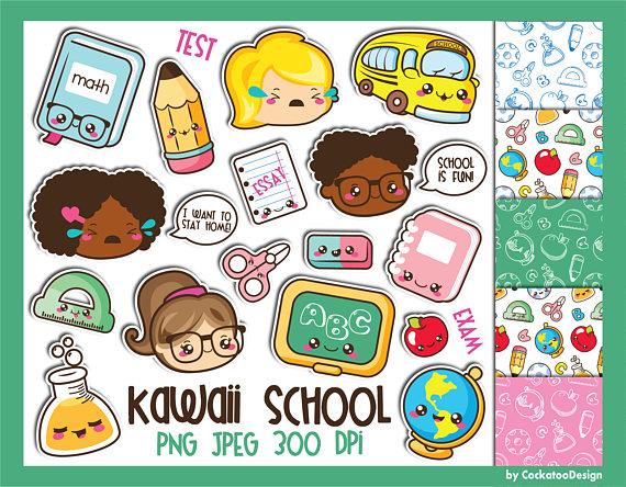 Kawaii School PNG