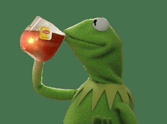 Kermit Drinking Tea - Kermit PNG