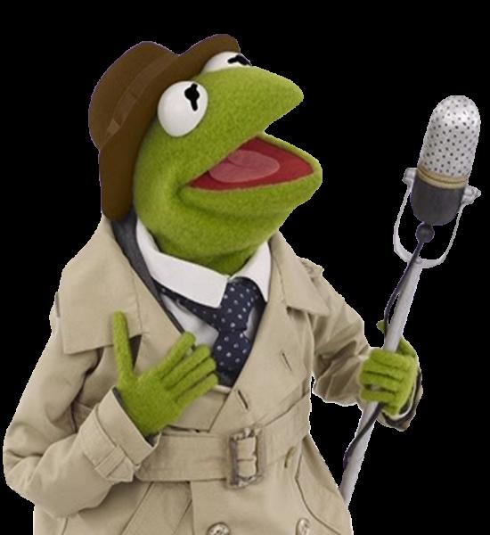 Reporter Kermit 1.png - Kermit PNG