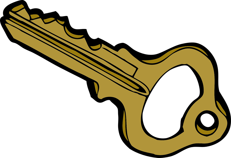key metal plain - Key HD PNG