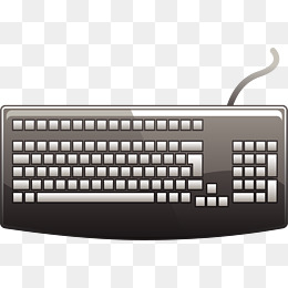 Vector painted keyboard, Vect