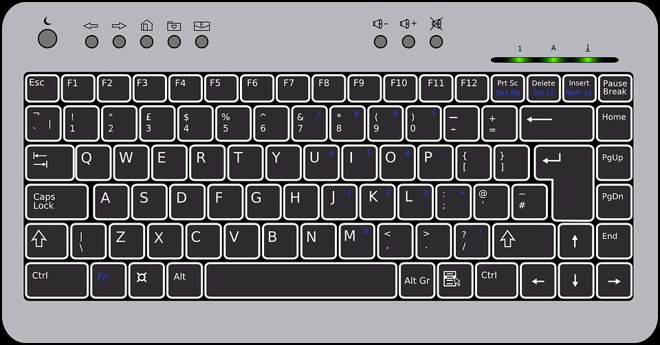 Keyboard, Black, Compact, Har