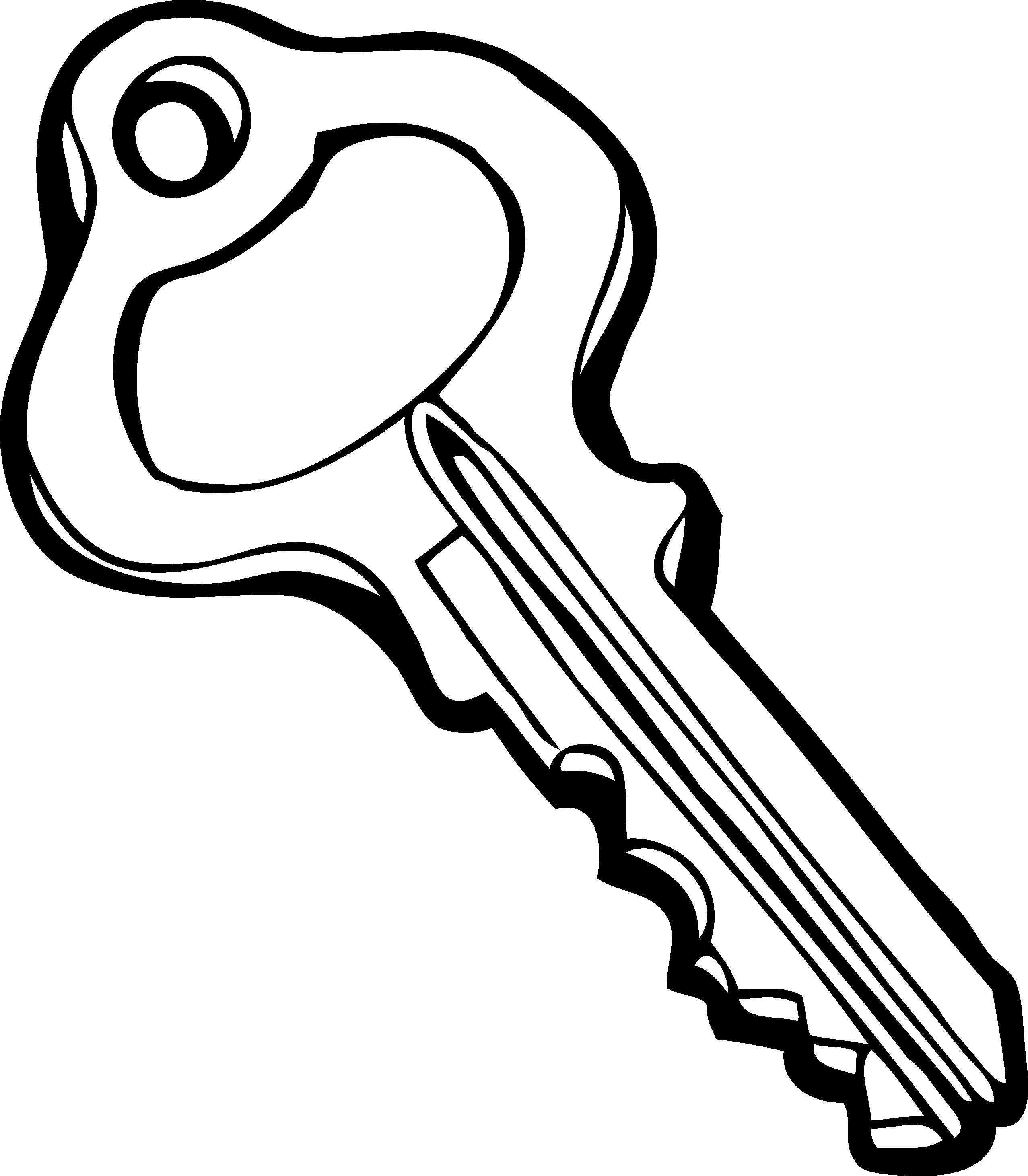 Keys PNG Black And White - 153899