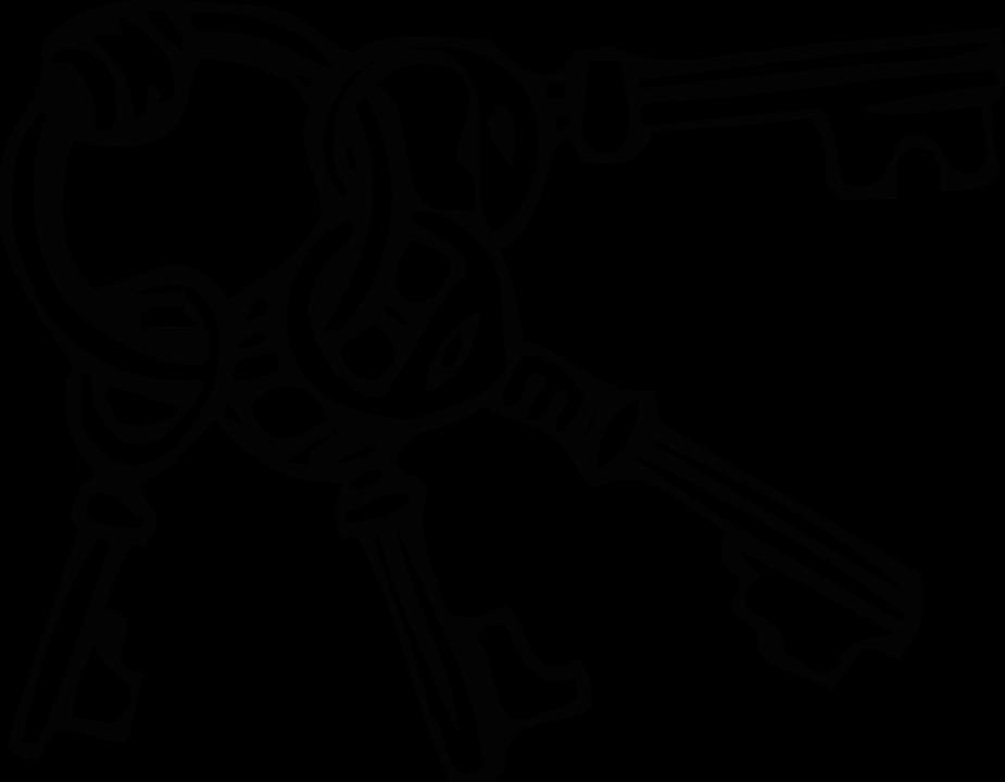Keys PNG Black And White - 153904