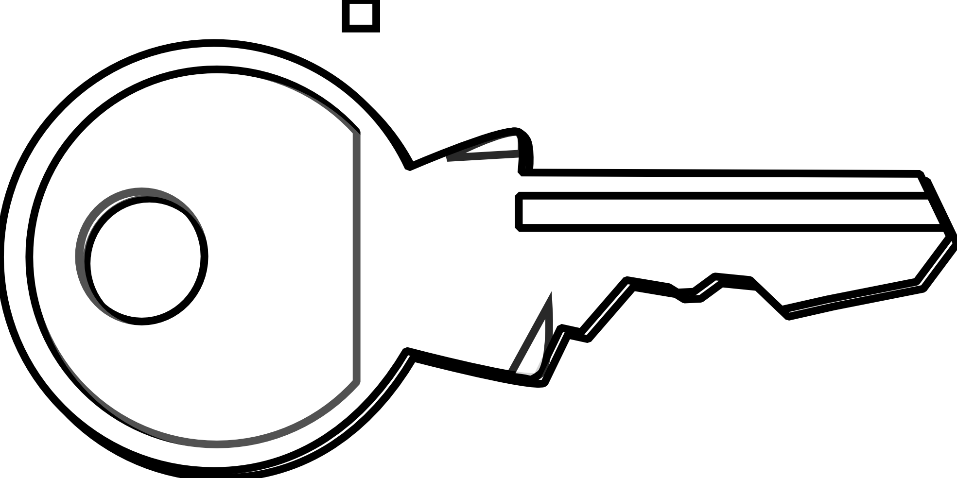Keys PNG Black And White - 153911