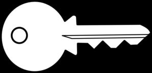 Keys PNG Black And White - 153903