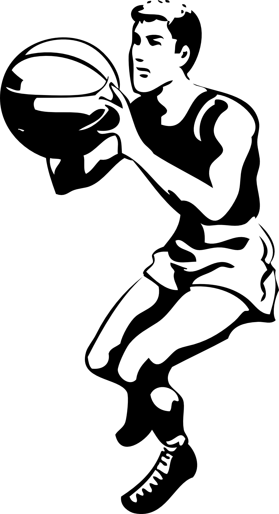 Basketball clipart black and white: Black and white images - Kick PNG Black And White