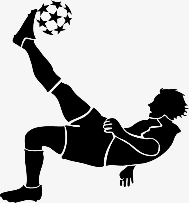 Bicycle kick, Bayern Munich, Football Team, Football Game PNG and Vector - Kick PNG Black And White