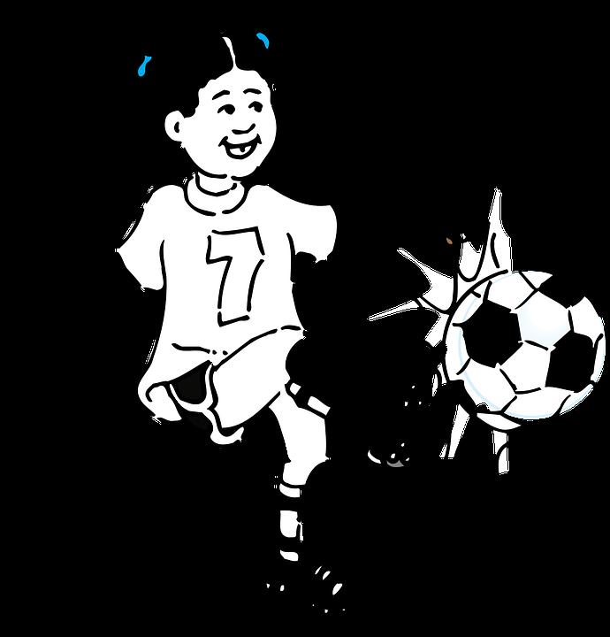 kız futbol tekme spor top genç kadın mutlu oyun - Kick PNG Black And White