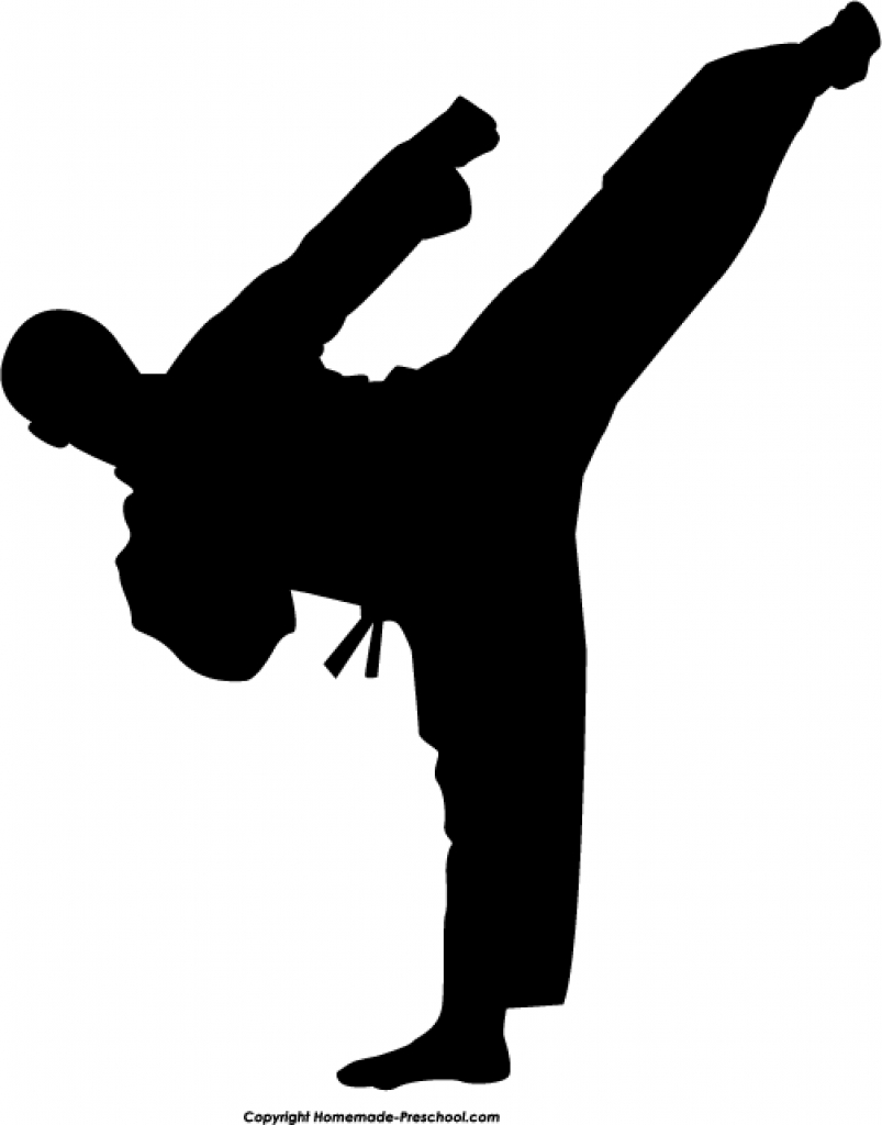 Karate Clip Art ClipartscoTop 30 PNG Graphics Clipart Png - Kick PNG Black And White