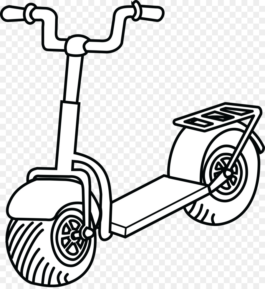 Kick scooter Clip art - kick scooter - Kick PNG Black And White
