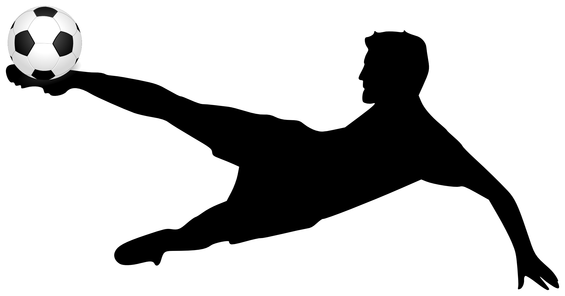 Soccer Clipart Black and White - Kick PNG Black And White