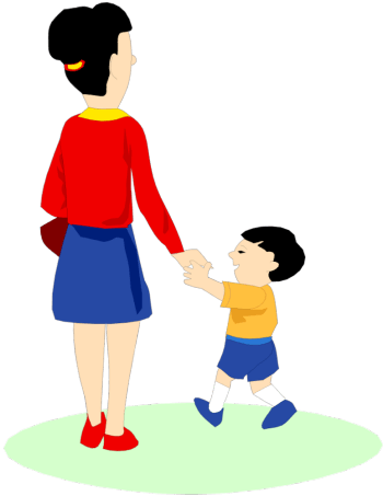 Kid And Mom PNG - 168633