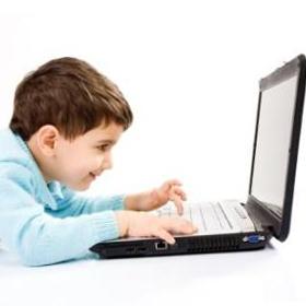 boy cartoon computer geek kid
