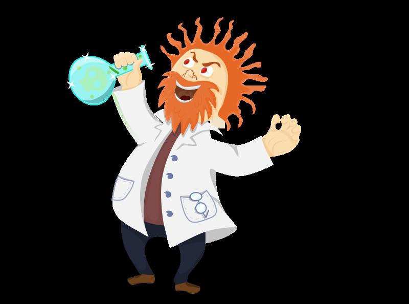 Free Mad Scientist Clip Art - Kid Mad Scientist PNG