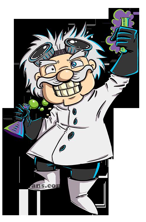 mad scientist cartoon - Google Search - Kid Mad Scientist PNG