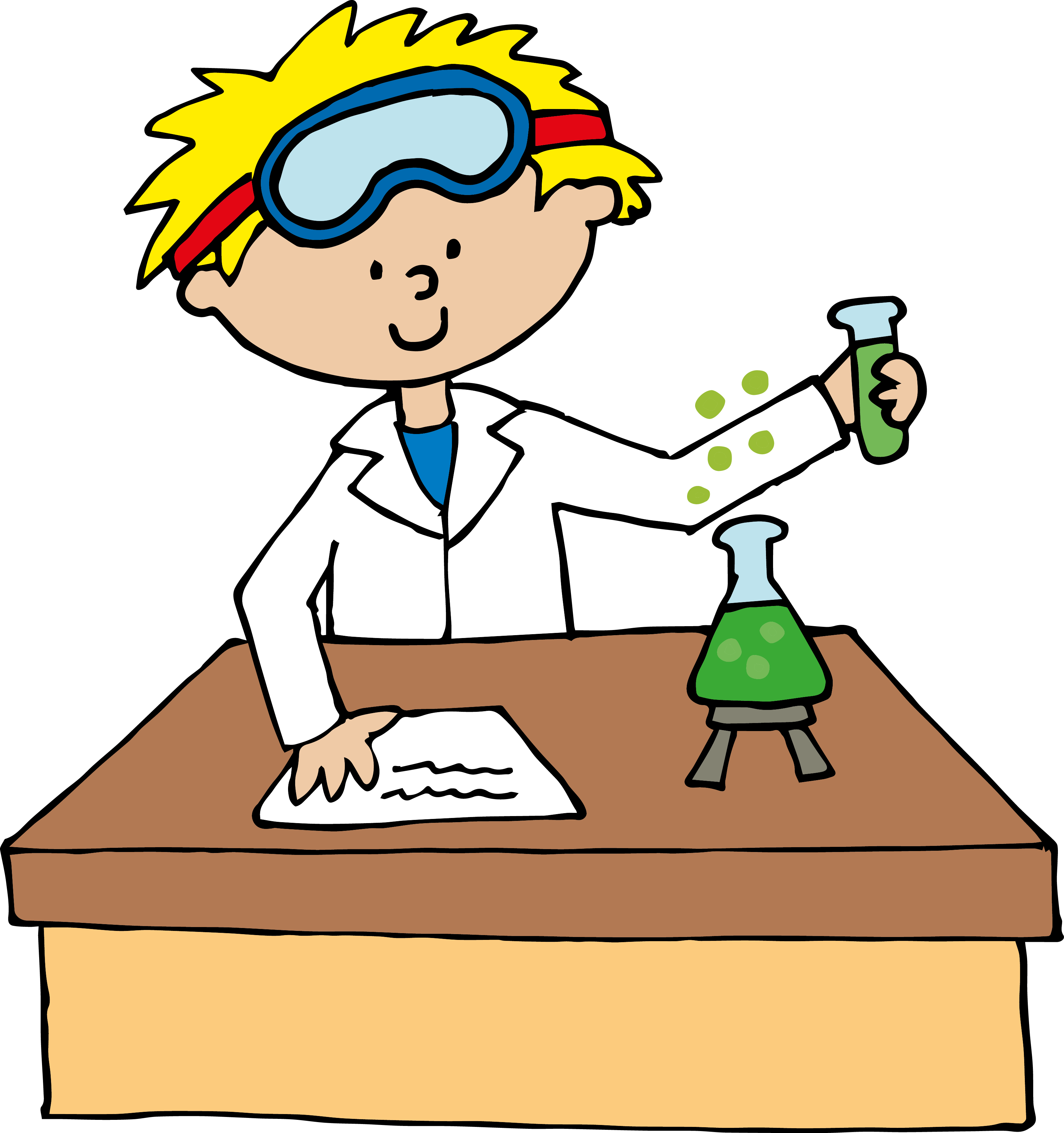 Scientist Clipart - Clipart library - Kid Mad Scientist PNG