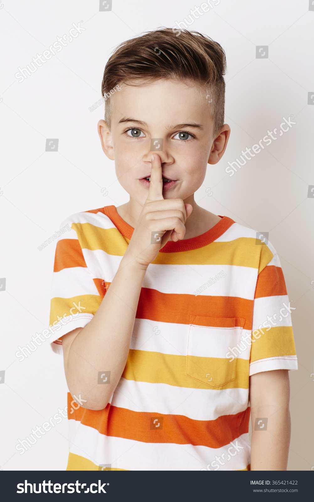 Cool young kid shushing at camera - Kid With Camera PNG
