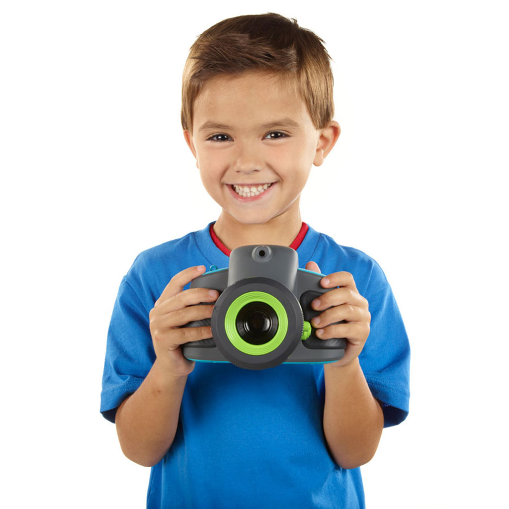 Playskool ShowCam Digital Camera and Projector - Kid With Camera PNG