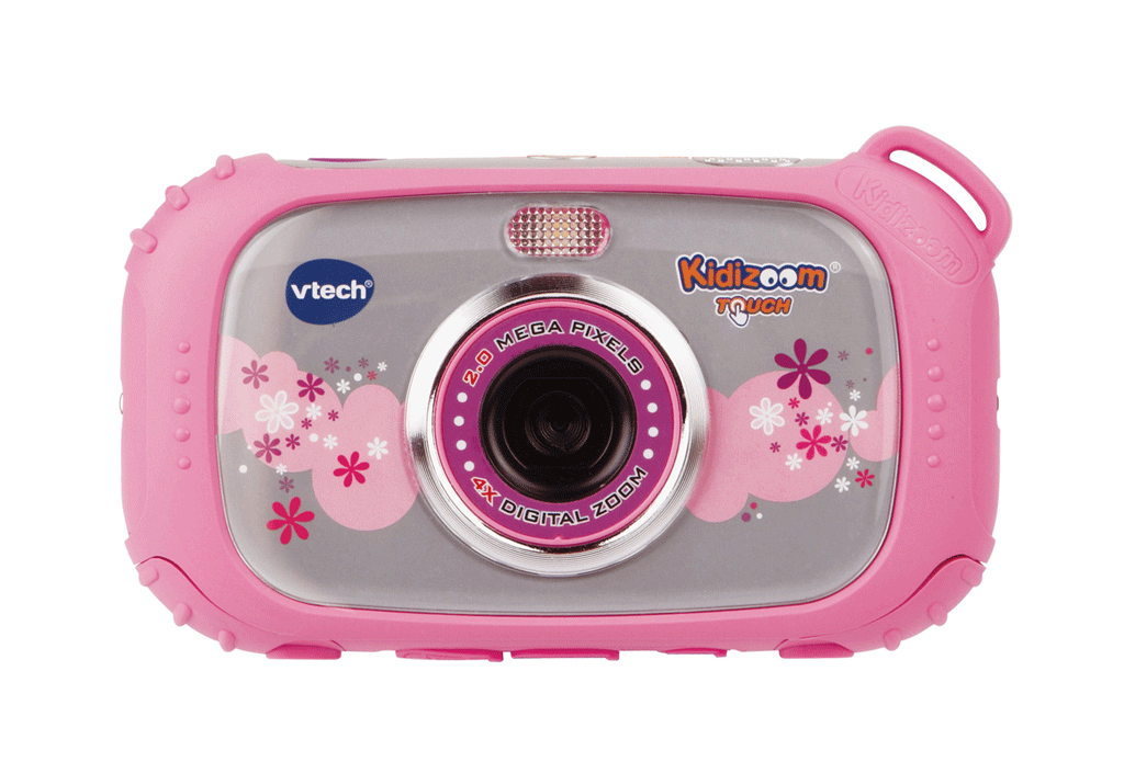 The Kidizoom Touch features 2-megapixel cameras with 4 times digital zoom  on both the - Kid With Camera PNG