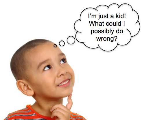 child with thinking bubble - Kid With Thought Bubble PNG