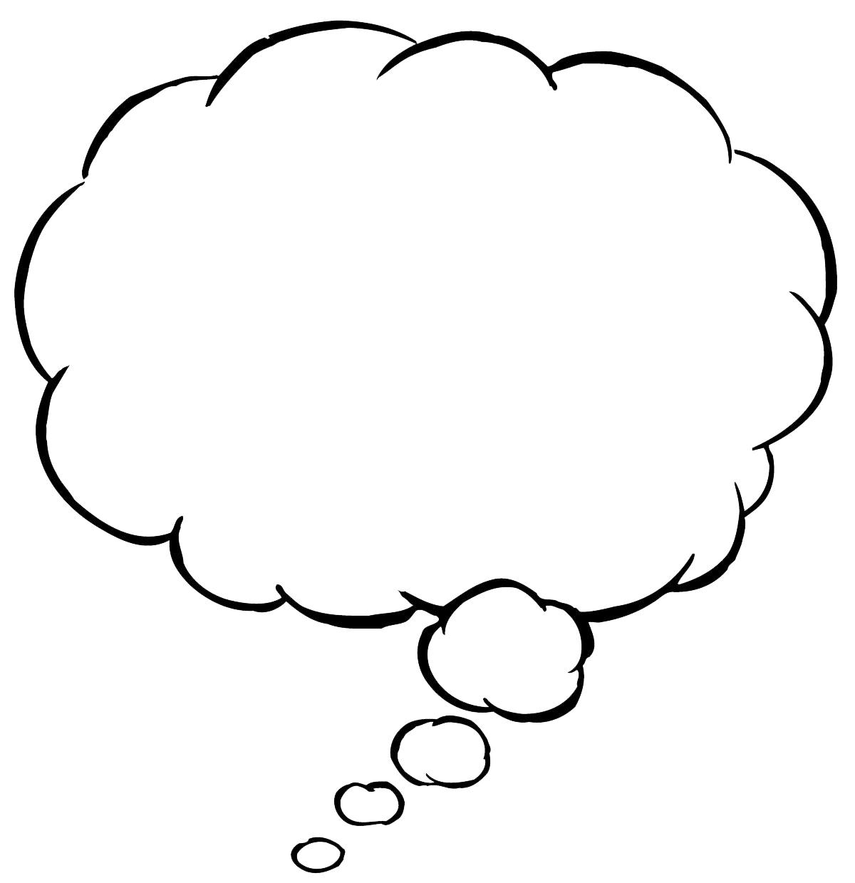 Thought bubble speech clipart