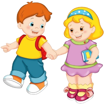 Cute Cartoon Funny School Children Clip Art Images - Kids Having Fun At School PNG