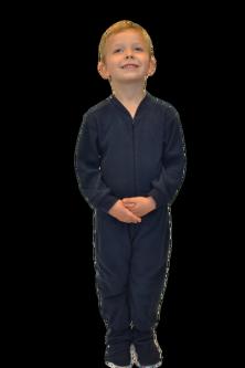 Navy Fleece Onesie Footie Pajamas for Infants u0026 Toddlers - Kids In Pajamas PNG