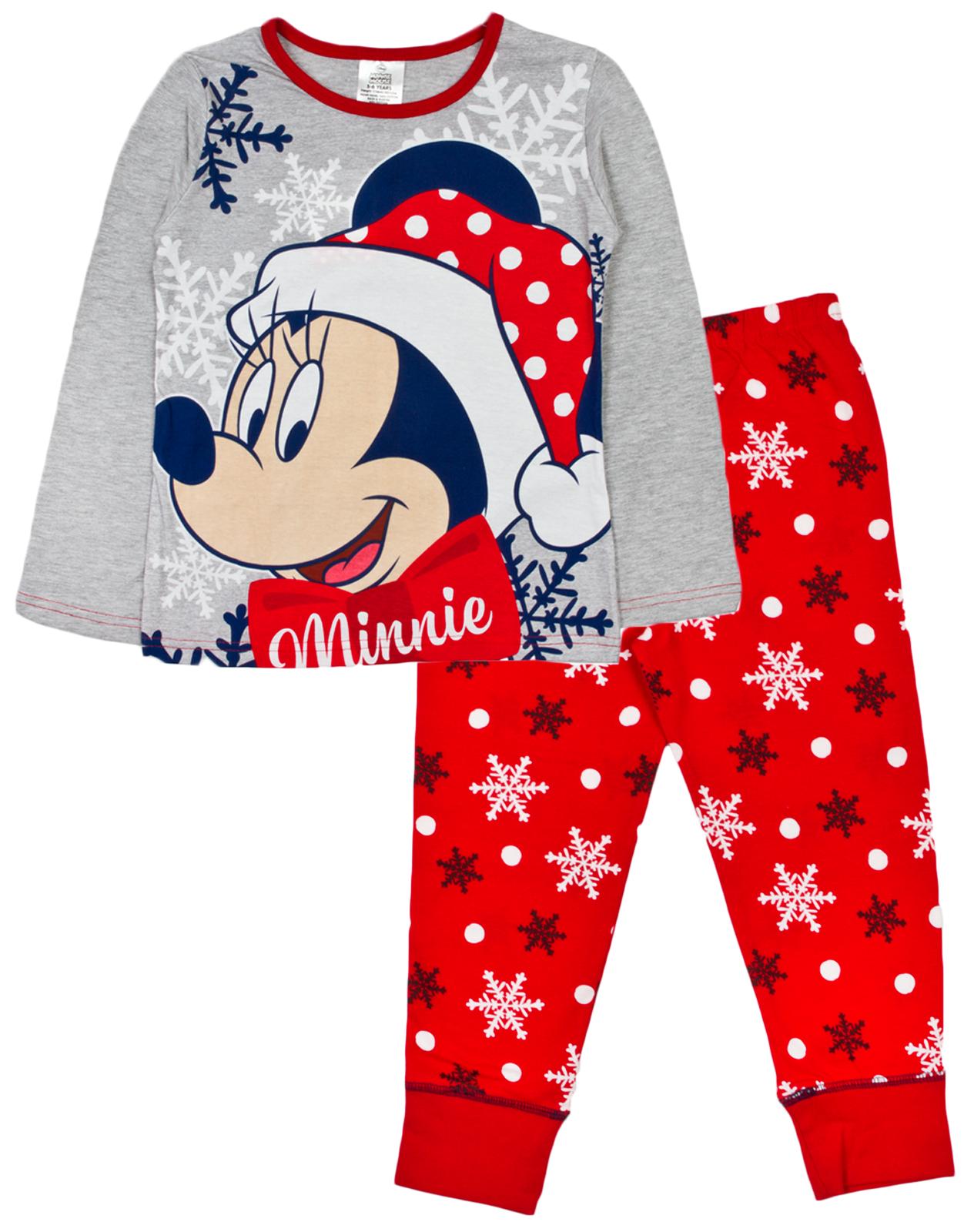 girls boys christmas character pyjamas 2 piece pjs warm lounge set kids size