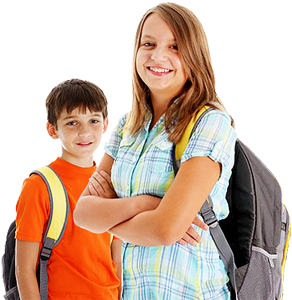 Girl_boy_backpacks21.png 292×300 Pixels | Group Photos Inspo | Pinterest |  Group Photos - Kids Smiling PNG HD