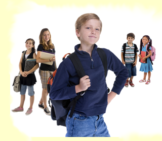 PlusPng Pluspng.com Young School Kids With Backpacks - Middle School Kids PNG . - Kids Smiling PNG HD