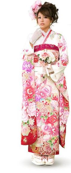 Beautiful Japanese Kimono - Kimono Dress PNG