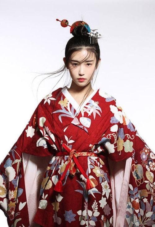 Chinese dress - Hanfu 汉服 u0026 Zhang Xinyuan 张辛苑 - Kimono Dress PNG
