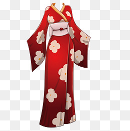Exquisite kimono, Kimono, Clothes, Cherry Blossoms PNG and Vector - Kimono Dress PNG