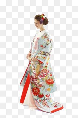 kimono, Blue Floral, Silk, Japan PNG Image - Kimono Dress PNG