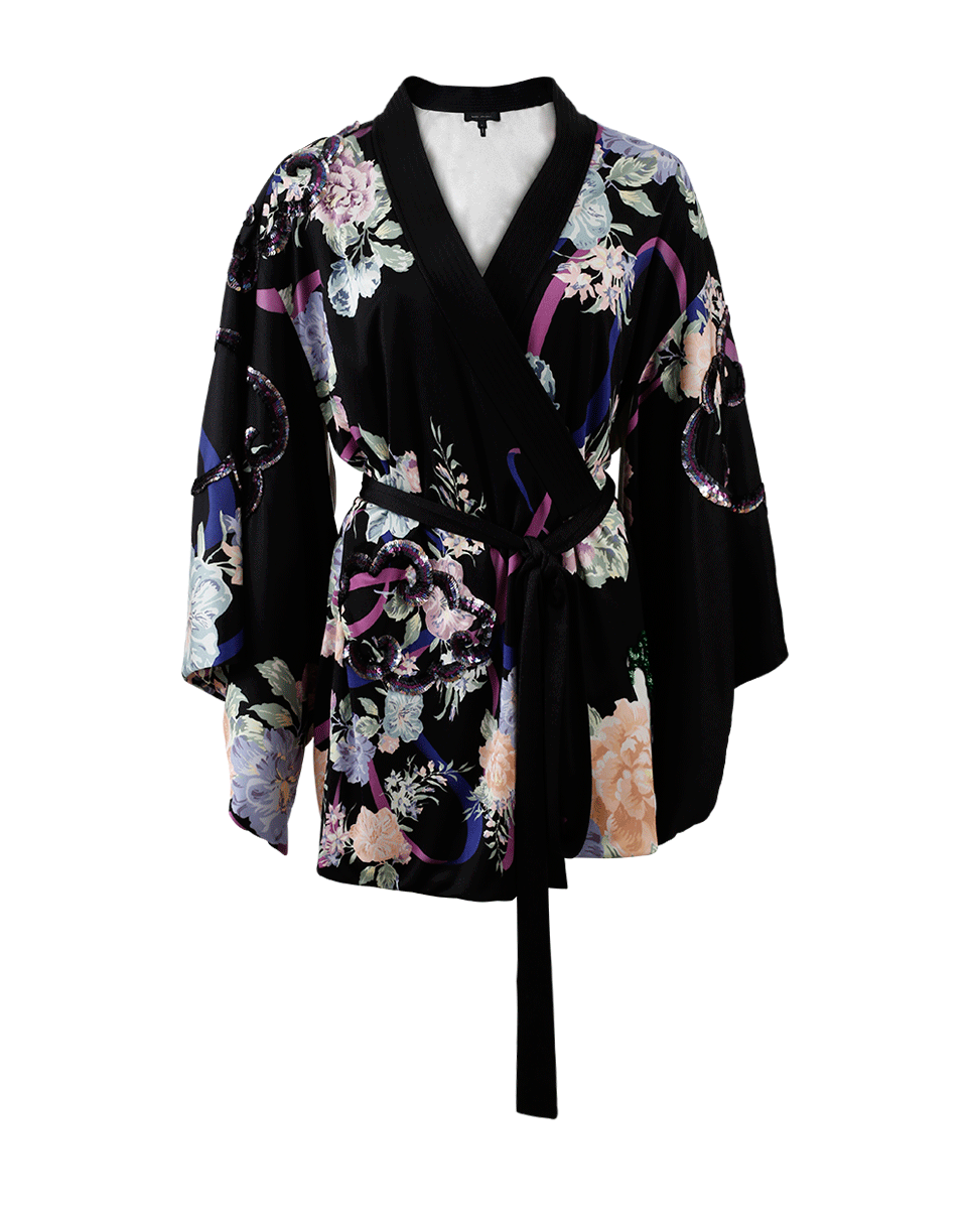 MARC JACOBS Floral Sequined Kimono Dress. #marcjacobs #cloth #dress - Kimono Dress PNG