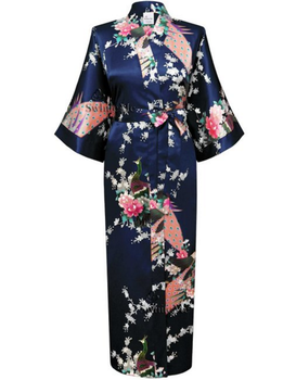 Wholesale Womenu0027s Kimono Long Cheap Floral Satin Robe - Kimono Dress PNG