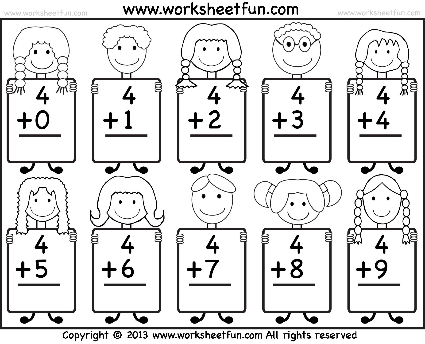 . PlusPng.com Kindergarten Free Math Worksheets For Kindergarten ~ Koogra  free-printable-math-worksheets- - Kindergarten Math PNG Black And White