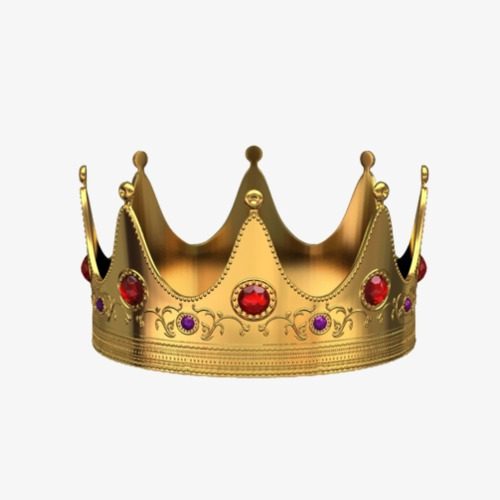red orb gold crown, Golden Crown, Red Orb Crown, Crown Material PNG Image - King Crown PNG HD