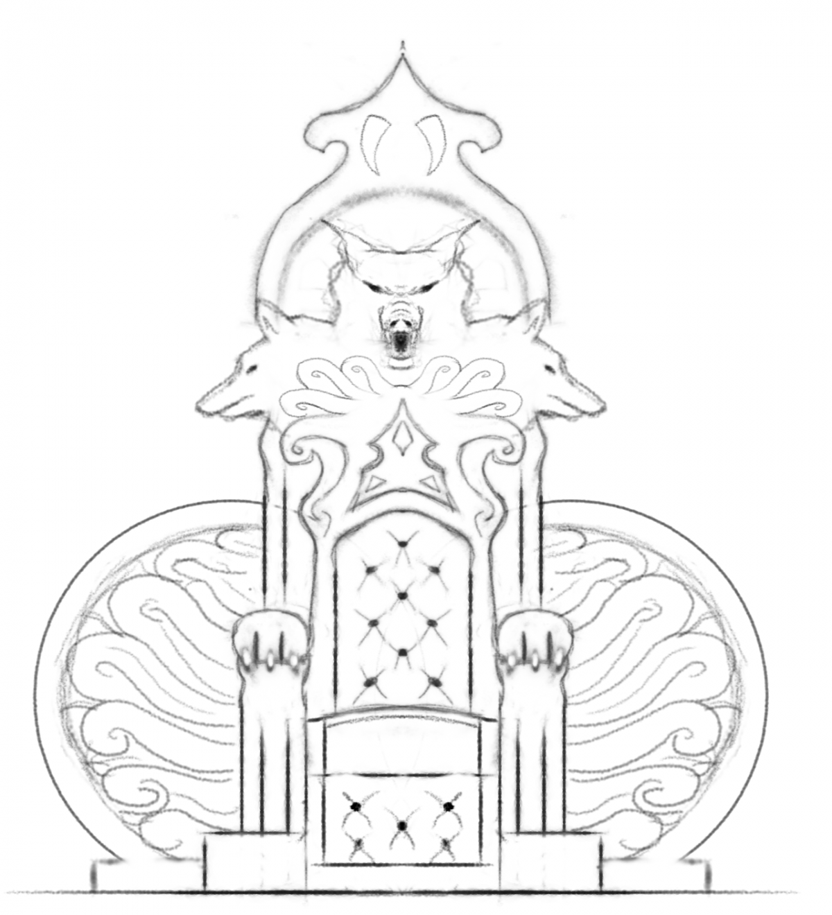 1200x1320 1st Challenge Sculpt a King#39s Throne! - King On Throne PNG Black And White