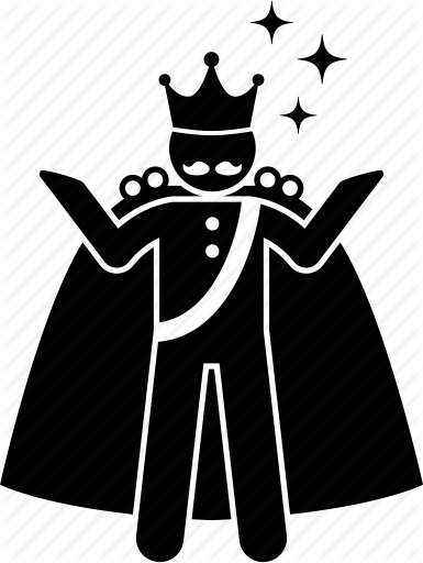 crown, king, majestic, throne icon - King On Throne PNG Black And White