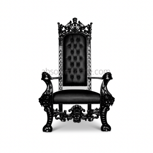 SALE | King Henry Throne - Black/Black. temp_1.PNG - King On Throne PNG Black And White