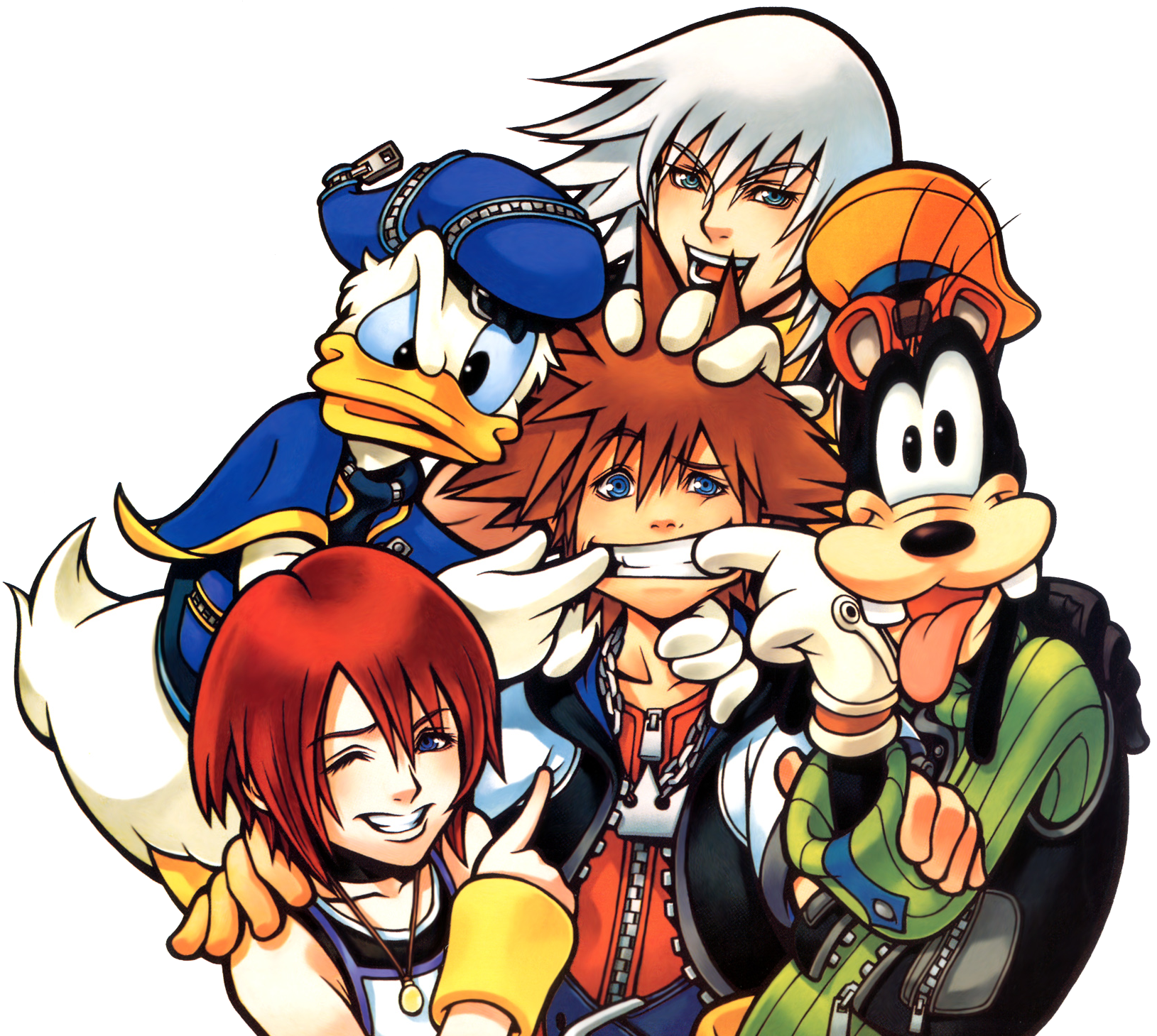 Protagonist Group (Art) KH.png - Kingdom Hearts PNG